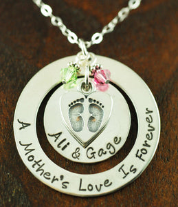 A Mother's Love is Forever Silver Necklace