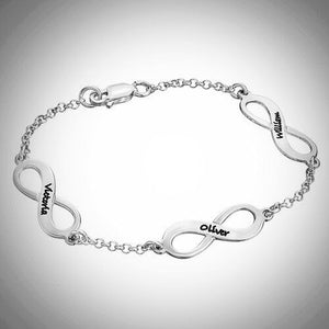 Sterling Silver Infinity Times Infinity Bracelet