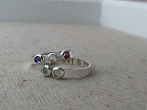Personalized Multiple Birthstone Ring