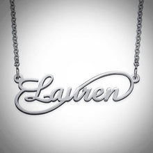 Load image into Gallery viewer, Infinity Nameplate Necklace - Sterling Silver, Gold, Rose Gold, or 14K Gold