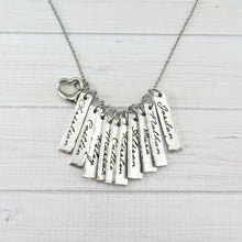 Load image into Gallery viewer, Lots Of Love Name Tags with Heart Necklace