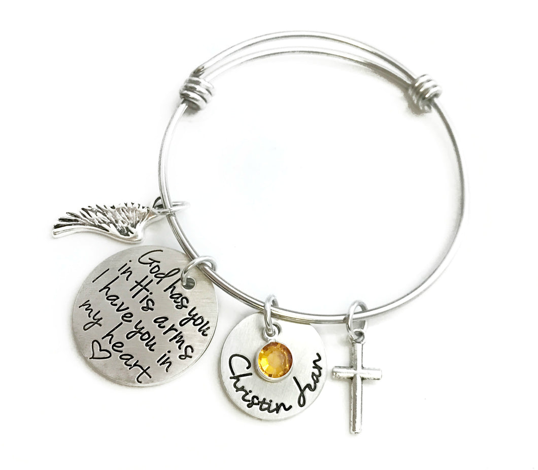 I Have You In My Heart Bangle Bracelet