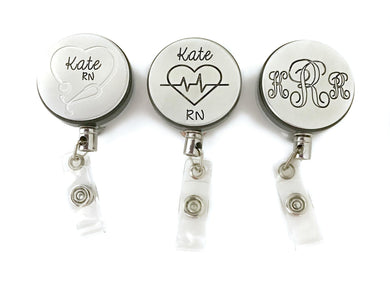 Personalized Nurse's Badge Holder