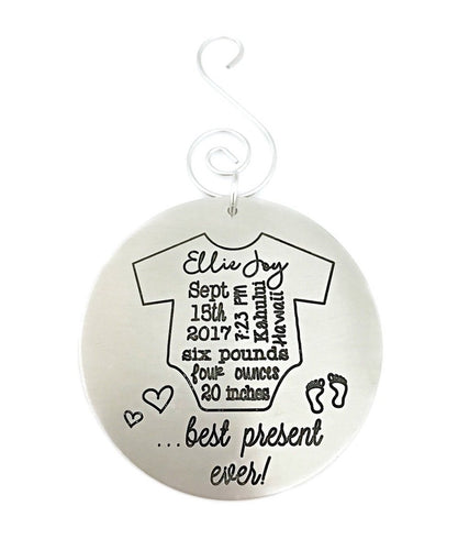 Onesie Baby's First Christmas Ornament