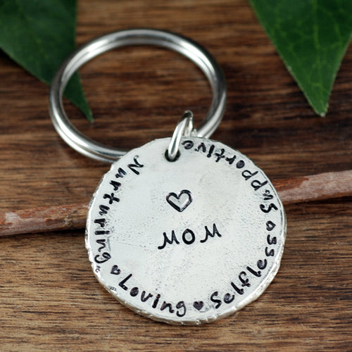 Personalized Mom Keychain