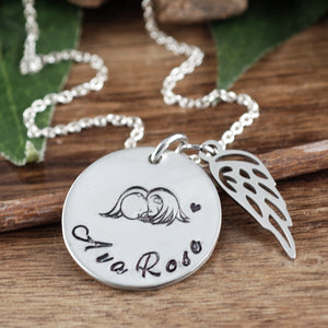 Angel Baby Necklace - Choose A Metal Color