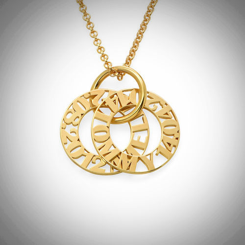 Gold Personalized Mother Necklace