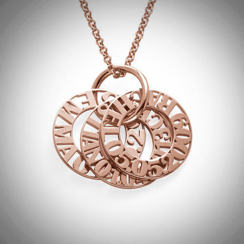 Rose Gold Personalized Mother Necklace