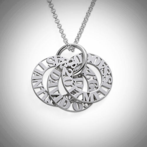 Silver Personalized Mother Necklace