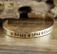 Load image into Gallery viewer, Paw Print Cuff - Choose A Metal
