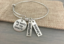 Load image into Gallery viewer, Pewter Beats Of My Heart Bangle Bracelet