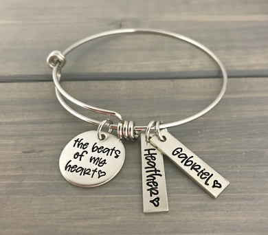 Beats Of My Heart Bangle Bracelet