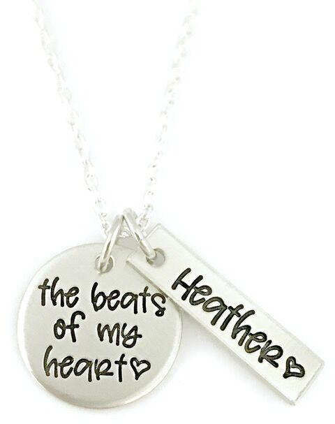 Pewter Beats Of My Heart Necklace