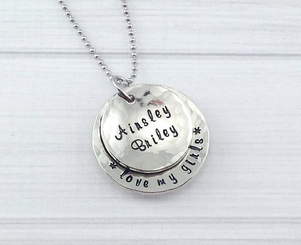 Love My Kids Pewter Necklace