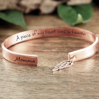 A Piece Of My Heart Cuff Bracelet - Choose A Metal