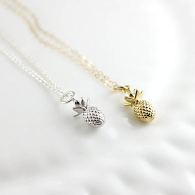 Pineapple Necklace- Silver or Gold