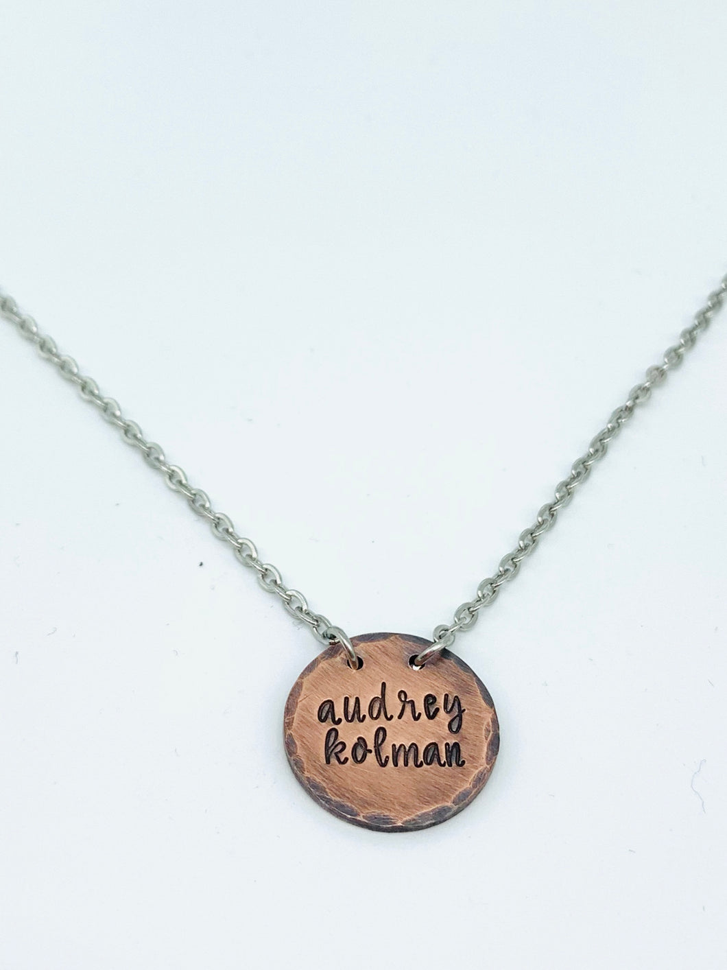 Rustic Copper Two Name Necklace