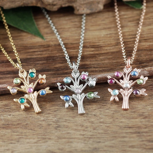 Simple Family Tree Necklace - Choose a Color