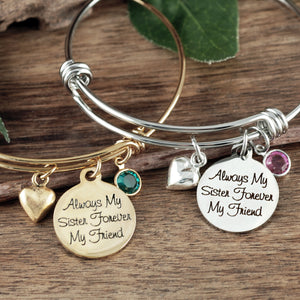 Sisters Bangle- Silver, Rose Gold, or Gold