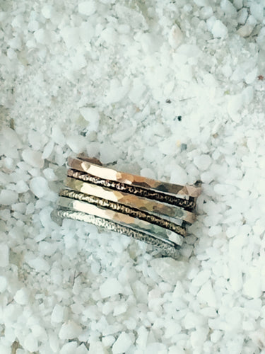 Ombre Stacking Rings- Set of 6