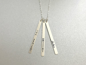 PERSONALIZED SKINNY BARS NECKLACE (CHOOSE YOUR METALS)