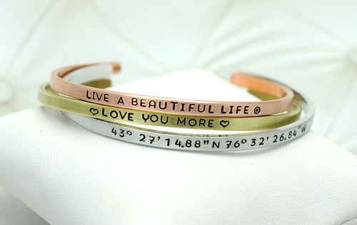 Skinny Cuff Bracelets- Choose a Metal