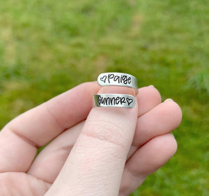 Skinny Sterling Silver Wrap Ring