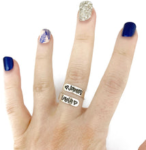 Load image into Gallery viewer, Skinny Sterling Silver Wrap Ring