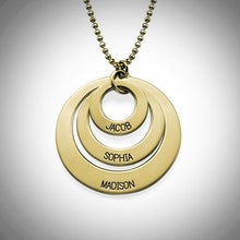 Load image into Gallery viewer, 10K Solid Gold Three-Loop Necklace