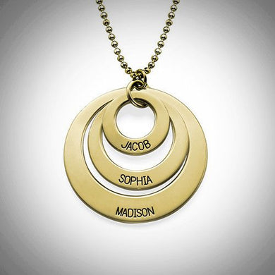 10K Solid Gold Three-Loop Necklace