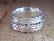 Load image into Gallery viewer, Sterling Silver Spinner Ring 3