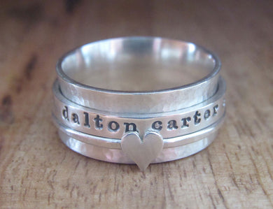 Sterling Silver Spinner Ring 3