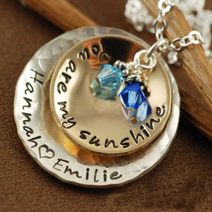 You Are My Sunshine Mixed Metal Necklace