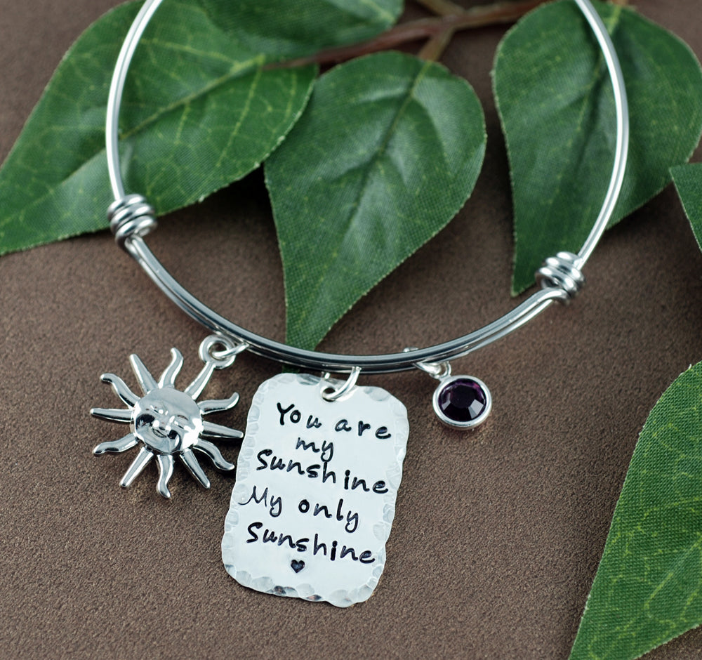 Sunshine Sterling Silver Charm Bangle Bracelet