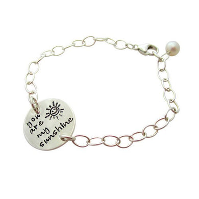 Sterling Silver You are My Sunshine Bracelet