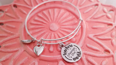 Teacher Bangle Bracelet