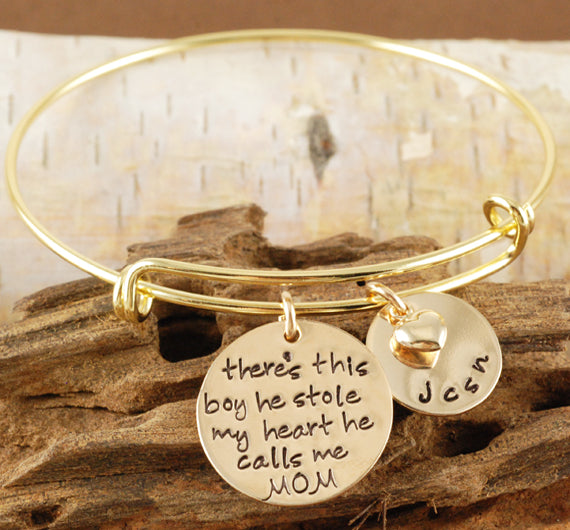 There's This Boy Gold Bangle Bracelet