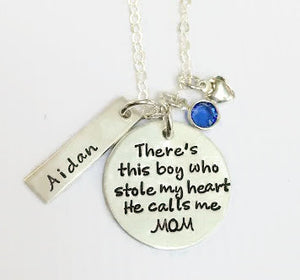 There's This Boy Personalized Necklace