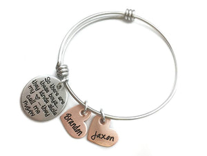 Mixed Metal They Call Me Mom Bangle Bracelet