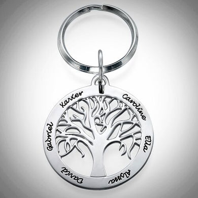Sterling Silver Family Tree Keychain