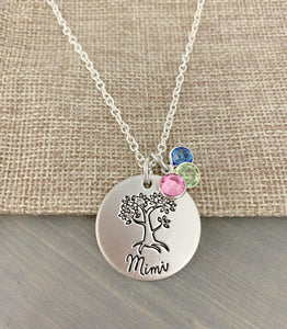 Personalized Family Tree with Birthstones
