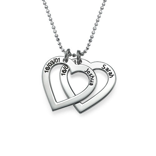 Sterling Silver Hearts Necklace 1