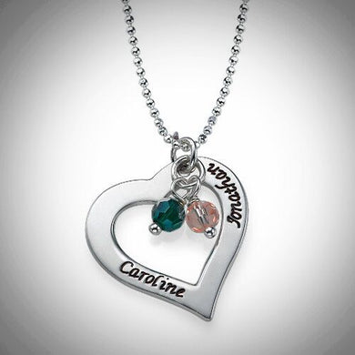 Love Names and Birthstones Necklace