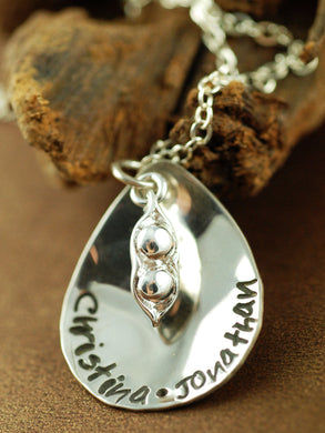 Peas in a Pod Charm Mother's Necklace