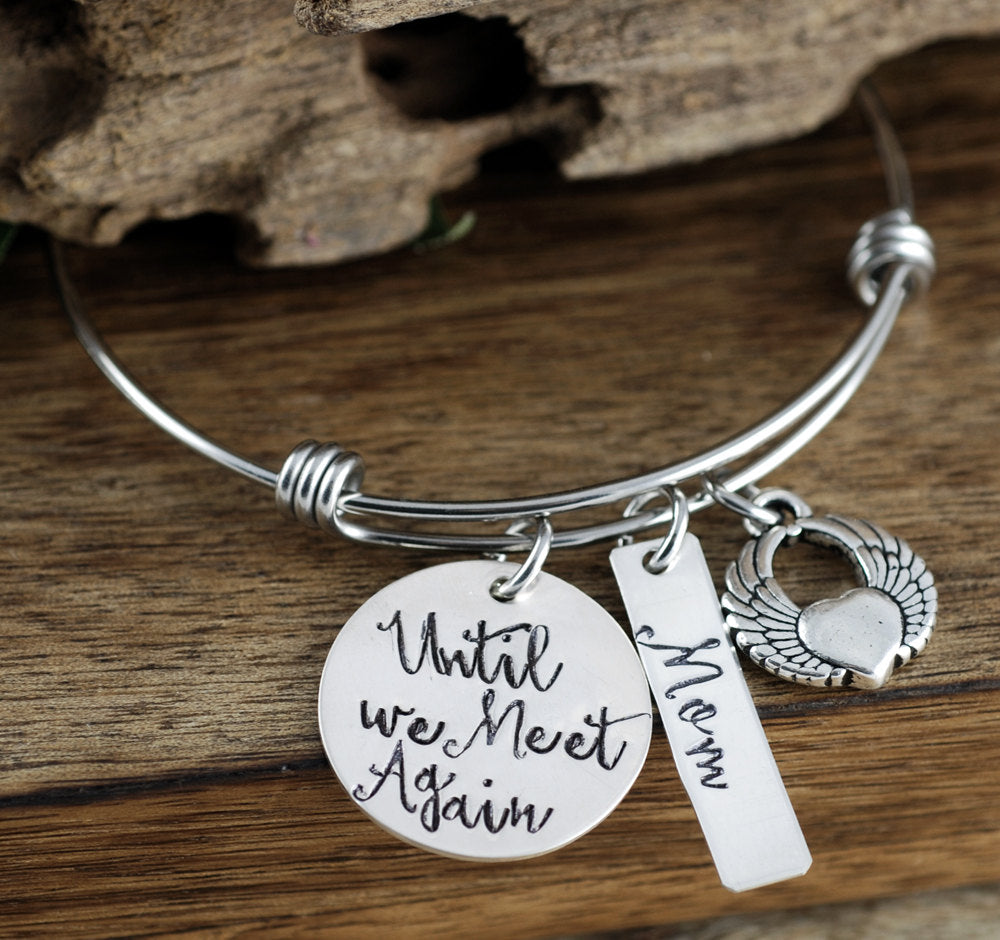Until We Meet Again Bangle Bracelet