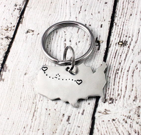 Long Distance Keychain