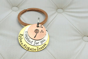 Mixed Metal I Wished For You Keychain