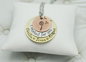 Mixed Metal I Wished For You Necklace