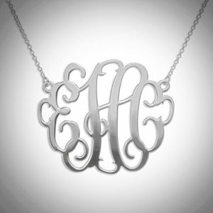 Sterling Silver XL Monogram Necklace