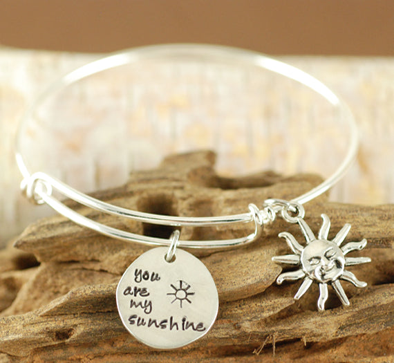 Sunshine Charm Bangle Bracelet